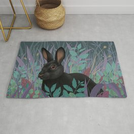 Black Rabbit Rug