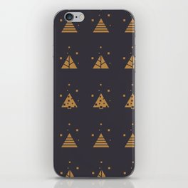 Winter Abstract Christmas Tree Pattern iPhone Skin