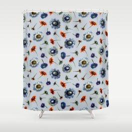 Scabiosa floral pattern 2 Shower Curtain