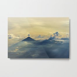 Aerial view sunset and clouds Metal Print