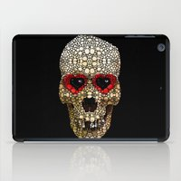 crossfit iPad Cases featuring Skull Art - Day Of The Dead 3 Stone Rock'd by Sharon Cummings