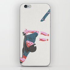 skateboarding 3 (lost time, risograph) iPhone & iPod Skin
