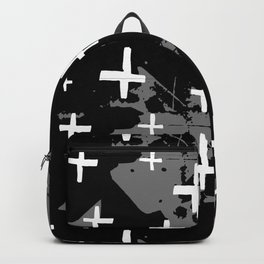 painted street grunge (black white gray) Backpack
