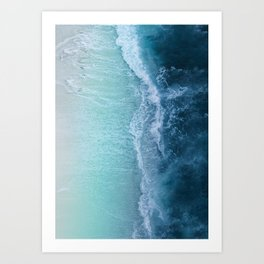 Turquoise Sea Art Print