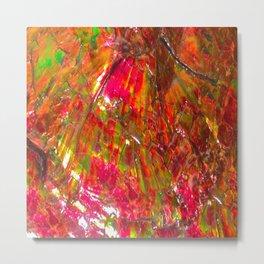 Tropical Sunset Ammolite Metal Print