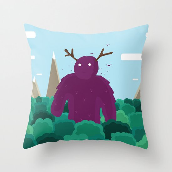 Life Swarms with Innocent Monsters Throw Pillow