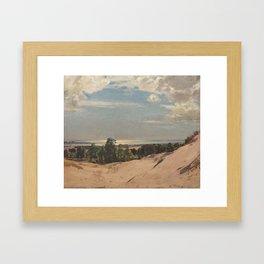 Blue and silver, Pas-de-Calais, 1929, by Algernon Talmage. Framed Art Print