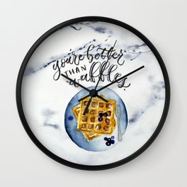 Waffle Love Wall Clock