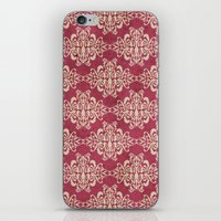 damask iPhone & iPod Skins featuring Damask by Arcturus