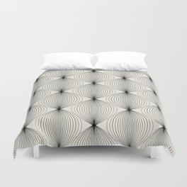 Geometric Orb Pattern - Black Duvet Cover