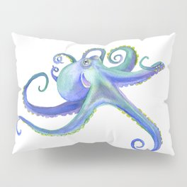 Octopus Watercolor Pillow Sham