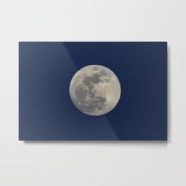 Super Blue Moon 2018 sunrise. Blue sky at sunset Metal Print