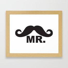 Mr. Moustache T Framed Art Print