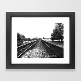 The Tracks Framed Art Print