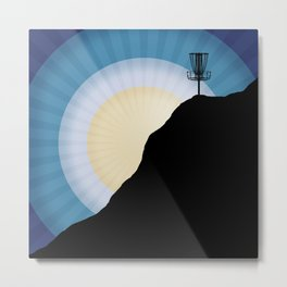 Basket On A Mountain Metal Print