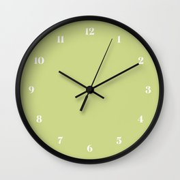 Lime Sherbet // Pantone 13-0530 TCX Wall Clock