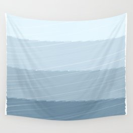 Blue Bars Wall Tapestry