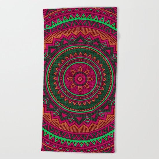 Hippie mandala 64 Beach Towel