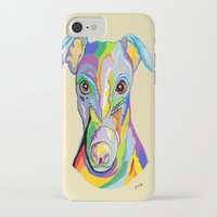greyhound iPhone & iPod Cases featuring Greyhound by EloiseArt