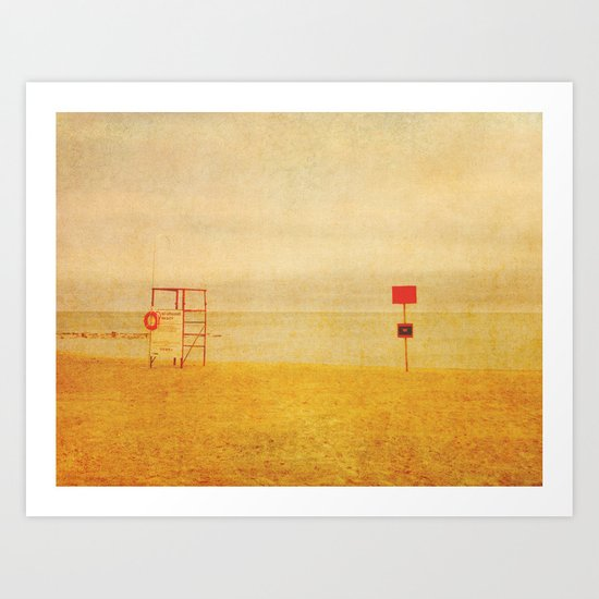 No Lifeguard On Duty Art Print