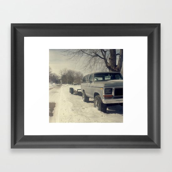 We'll Run Over You.  Framed Art Print