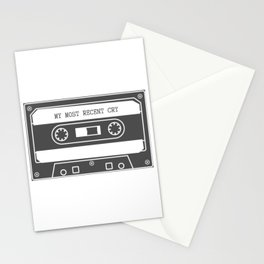 Mixtape of My Most Recent Cry Stationery Cards