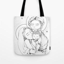 Holy Family Christmas Tote Bag