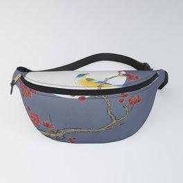 Plum blossoms, bird and the moon Type H (Minhwa: Korean traditional/folk art) Fanny Pack