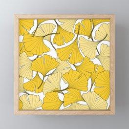 ginkgo leaves (yellow) Framed Mini Art Print