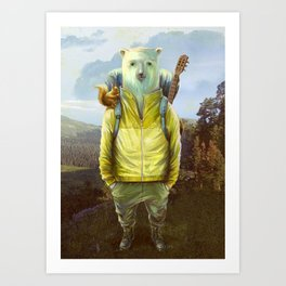bear-tourist Art Print