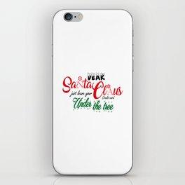Dear Santa iPhone Skin