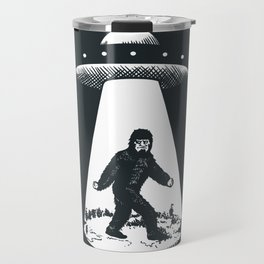 Bigfoot abducted by UFO Travel Mug