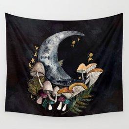 Mushroom Moon Wall Tapestry