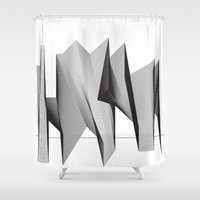 dinosaurs Shower Curtains featuring Dinosaurs by The New Minimalist
