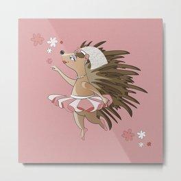Dreamy Hedgehog Metal Print