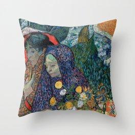 Memory of the Garden at Etten (Ladies of Arles) Throw Pillow