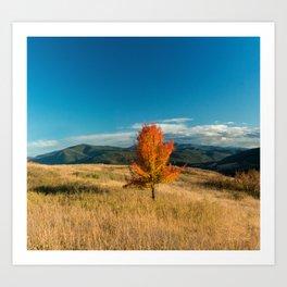 Simple Fall Tree Art Print