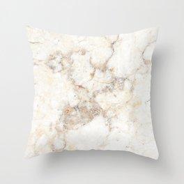 Marble Natural Stone Grey Veining Quartz Throw Pillow