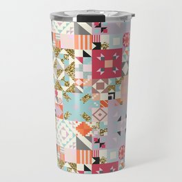 Moroccan Quilt Pattern Travel Mug