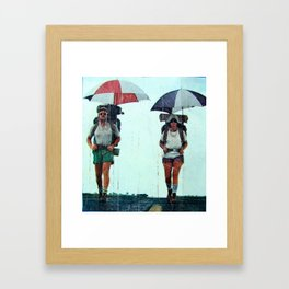 Rain Hiking Framed Art Print