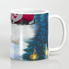Christmas, snowman with Santa Claus Coffee Mug