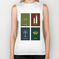 the lord of the rings Biker Tanks featuring Lord of the Rings - Complete Minimalist Collection by Jamesy