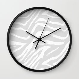 ZEBRA GRAY AND WHITE ANIMAL PRINT Wall Clock