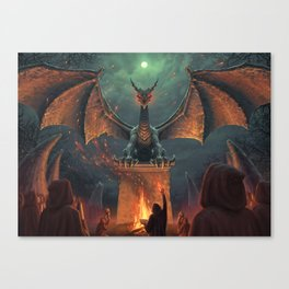 Draconic Ritual Canvas Print