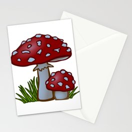 Abstract Magic Mushrooms Stationery Cards