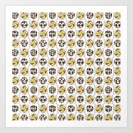 Traditional Japanese pattern TOMOE-ICHIMATSU Art Print