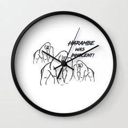 Harambe was Innocent! Wall Clock