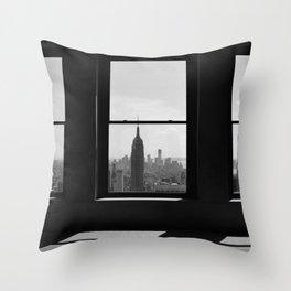 NY Window Throw Pillow