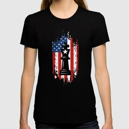 Patriotic USA American Chess Player Master T-shirt