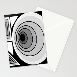 Optical Illusions Around Circle Stationery Cards